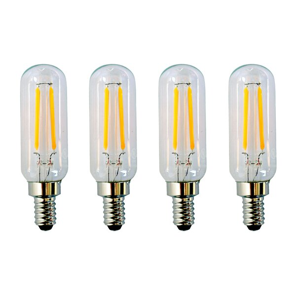 2W E12 Dimmable LED Light Bulb Frosted (Set of 4) by Aspen Brands