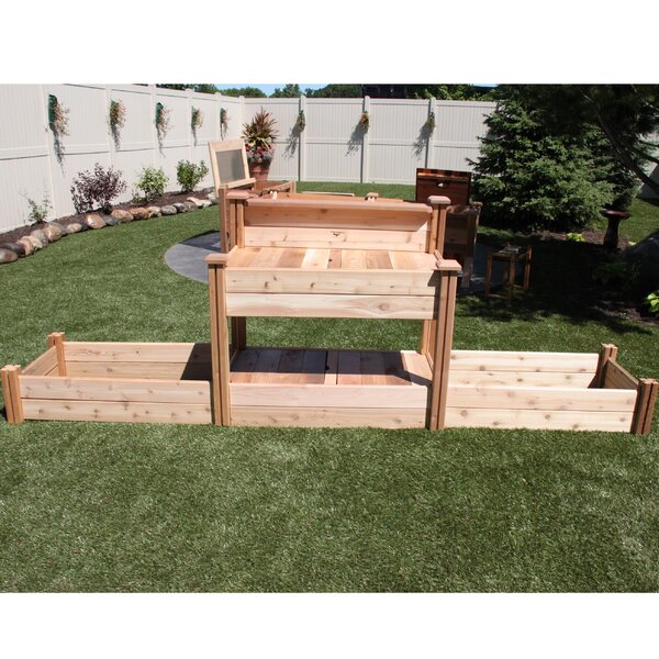 12 ft x 2.5 ft Cedar Raised Garden by Gronomics