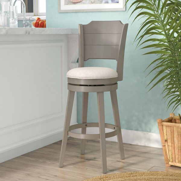 Kinsey 30'' Swivel Bar Stool by Rosecliff Heights