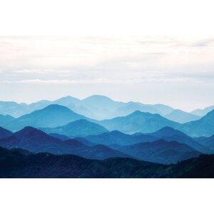 'Blue Mountains' Photographic Print on Canvas by East Urban Home