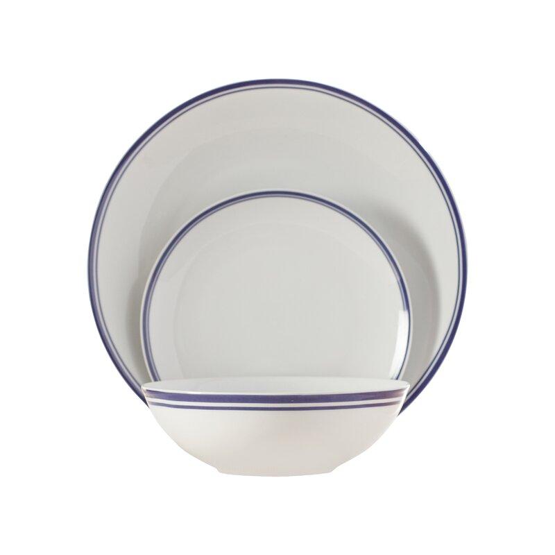 Wayfair Basics 12 Piece Striped Porcelain Dinnerware Set Service for 4  sc 1 st  Wayfair & Wayfair Basics™ Wayfair Basics 12 Piece Striped Porcelain Dinnerware ...