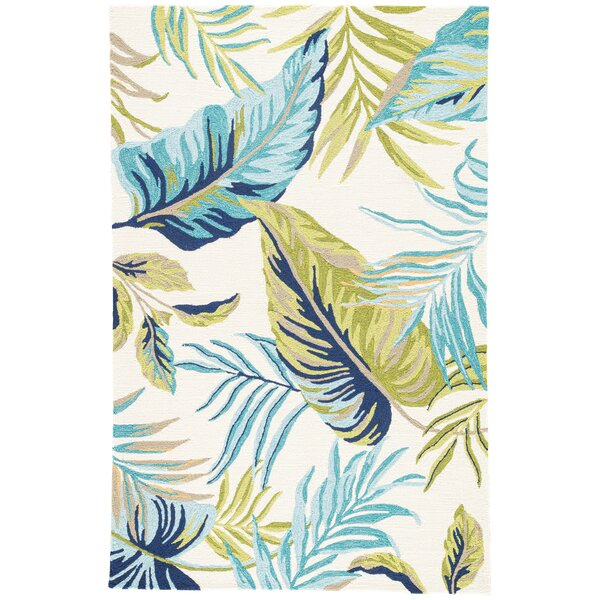Montego Hand Hooked Blue/Green Indoor/Outdoor  Area Rug by Bay Isle Home