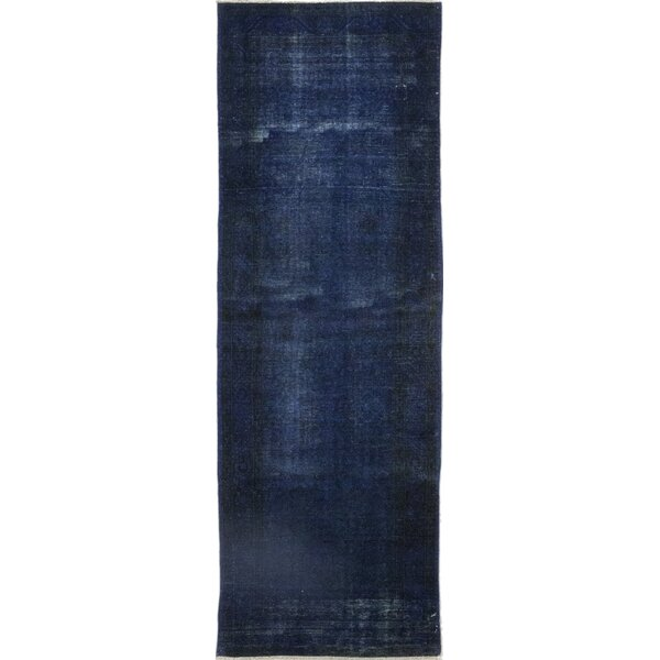 One-of-a-Kind Danvers Hand-Knotted Wool Blue Indoor Area Rug by Isabelline