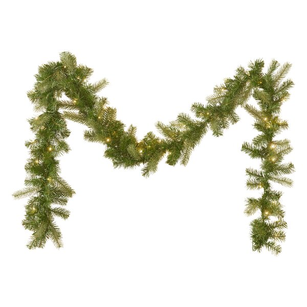 9 Mixed Spruce Garland by The Holiday Aisle