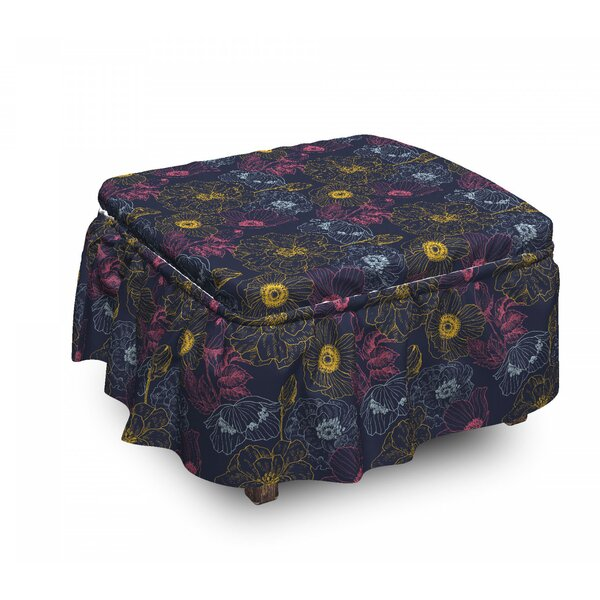 Abstract Outline Fruit Bunch Ottoman Slipcover (Set Of 2) By East Urban Home