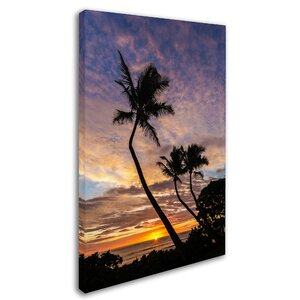 Kauai Sunrise by Pierre Leclerc Photographic Print on Wrapped Canvas by Trademark Fine Art