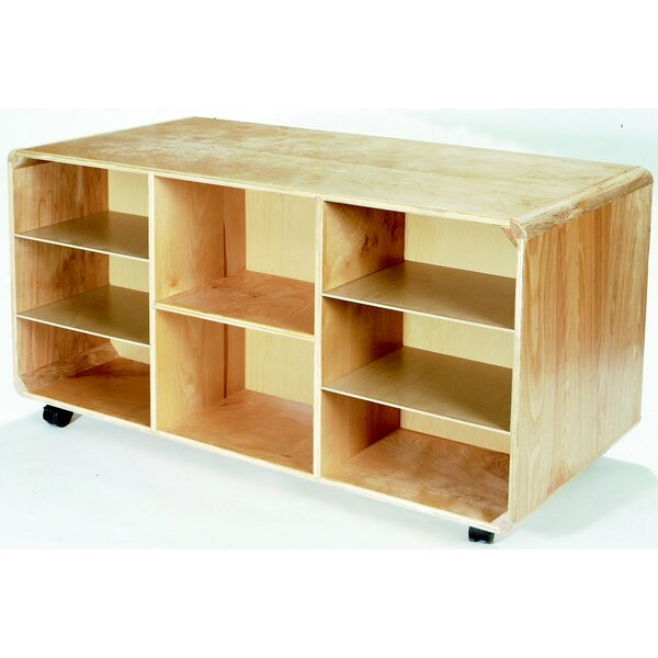 Double Sided 8 Compartment Shelving Unit with Casters by Korners for Kids