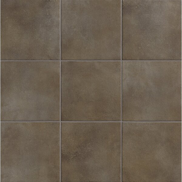 Poetic License 18 x 18 Porcelain Field Tile in Brown by PIXL