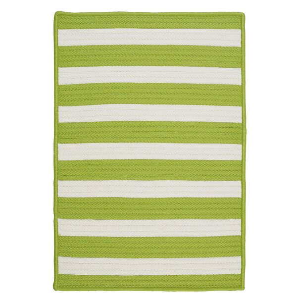 Georg Bright Lime Indoor/Outdoor Area Rug by Viv + Rae