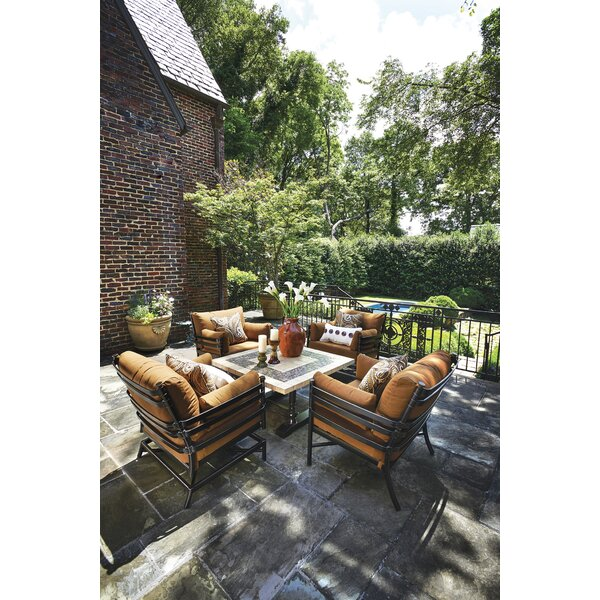 Lancaster 5 Piece Sunbrella Multiple Chairs Seating Group with Cushions by Inspired Visions