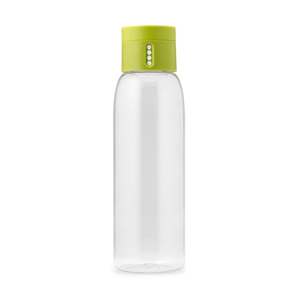 Dot Hydration Tracking 20 oz. Plastic Water Bottle by Joseph Joseph