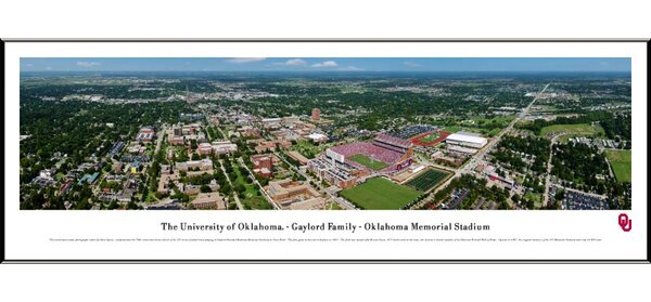 NCAA Aerial Standard Framed Photographic Print by Blakeway Worldwide Panoramas, Inc