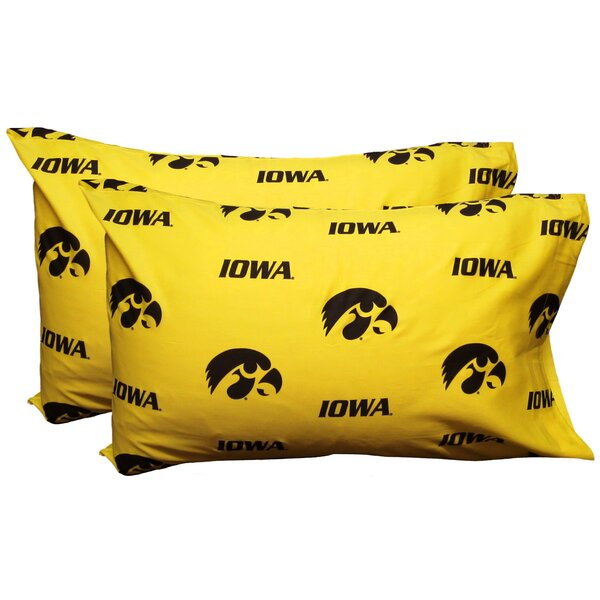 NCAA Iowa Hawkeyes Pillowcase (Set of 2) by College Covers