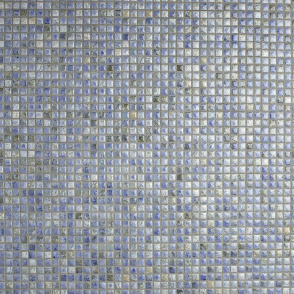 Arcadia 0.56 x 0.56 Porcelain Mosaic Tile in Neptune Blue by EliteTile