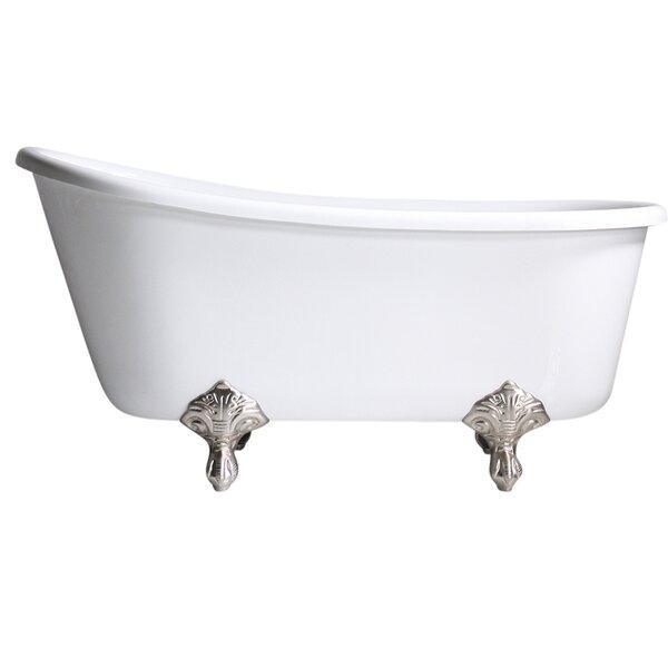 Hotel Acrylic Swedish 54 x 29 Freestanding Soaking Bathtub by Baths of Distinction
