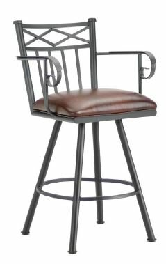 Alexander 26 Swivel Bar Stool by Iron Mountain