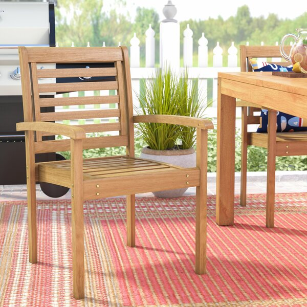 Bridgepointe Stacking Patio Dining Chair by Rosecliff Heights