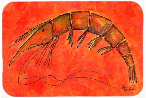 Shrimp Rectangle Non-Slip Bath Rug