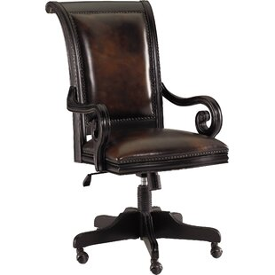 Amazing Telluride Leather Bankers Chair