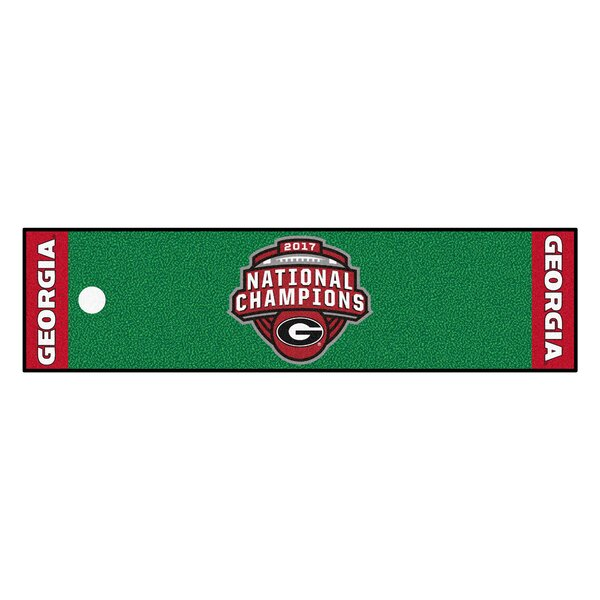 NCAA Putting Green/Red Area Rug by FANMATS
