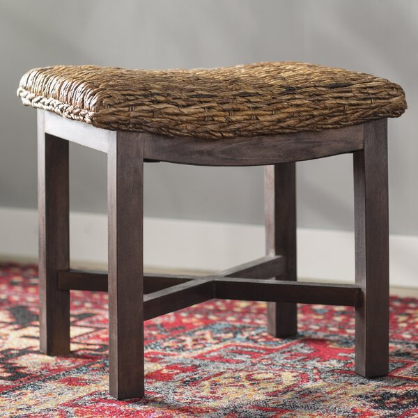 Adrianna Abaca Rectangular Accent Stool By Highland Dunes