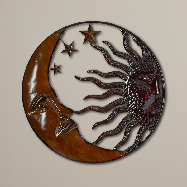 Rustic Antique Sun Moon Wall Décor by World Menagerie