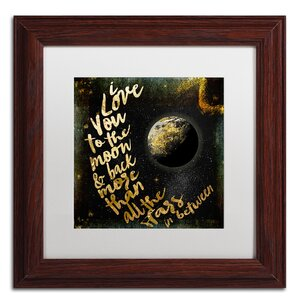 'Moon and Back I' by Color Bakery Framed Textual Art by Trademark Fine Art