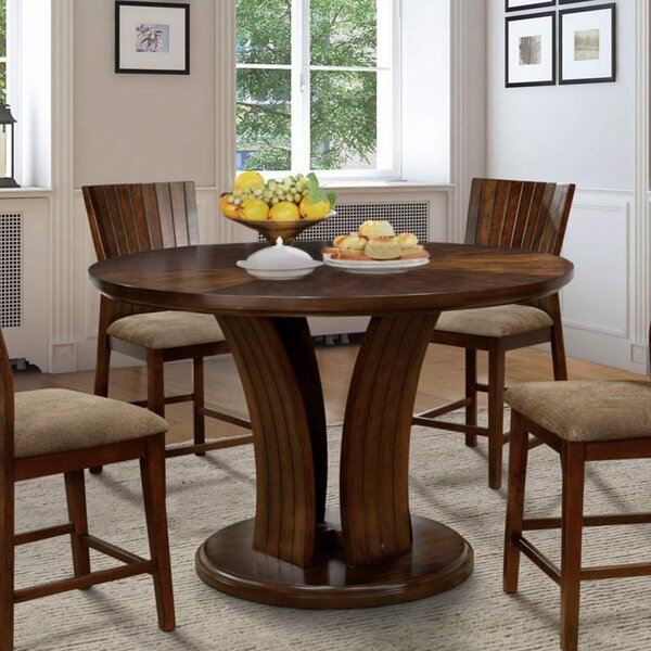 Galbaugh Walnut Solid Wood Dining Table By Wrought Studio