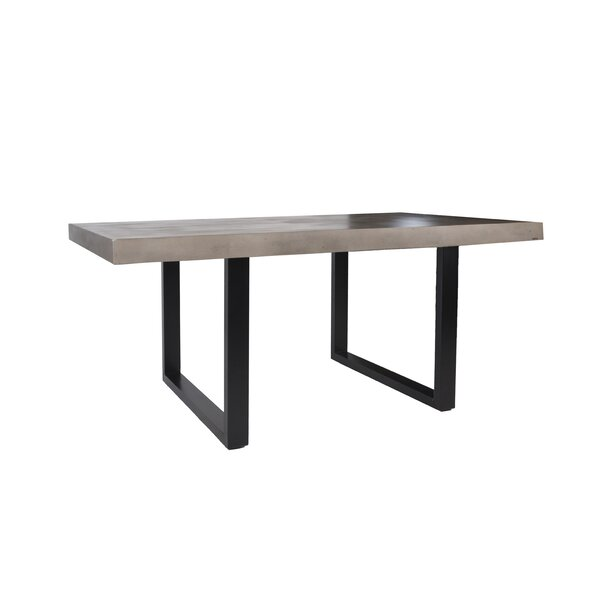 Linneman Stone/Concrete Dining Table by 17 Stories