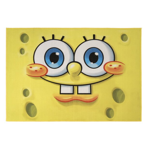One-of-a-Kind Sponge Bob Face Yellow Area Rug by Kid's Company