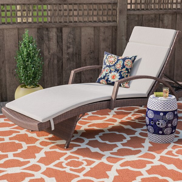 Indoor/Outdoor Chaise Lounge Cushion by Darby Home Co