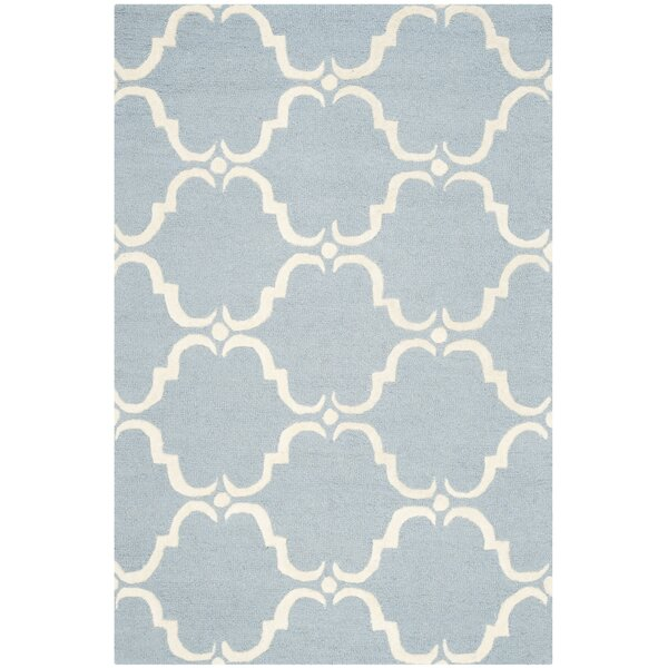 Cambridge Tufted Wool Blue/Ivory Area Rug by Darby Home Co