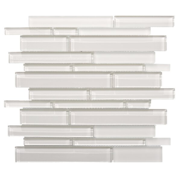 Premium Series Random Sized Glass Mosaic Tile in Icy Gray by WS Tiles