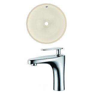 Read Reviews Ceramic Circular Undermount Bathroom Sink with Faucet and Overflow ByRoyal Purple Bath Kitchen