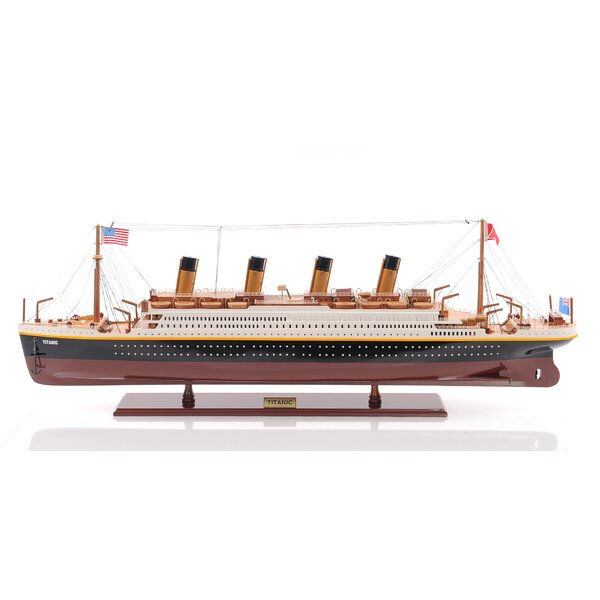 Lage Titanic Painted Model Ship by Old Modern Handicrafts