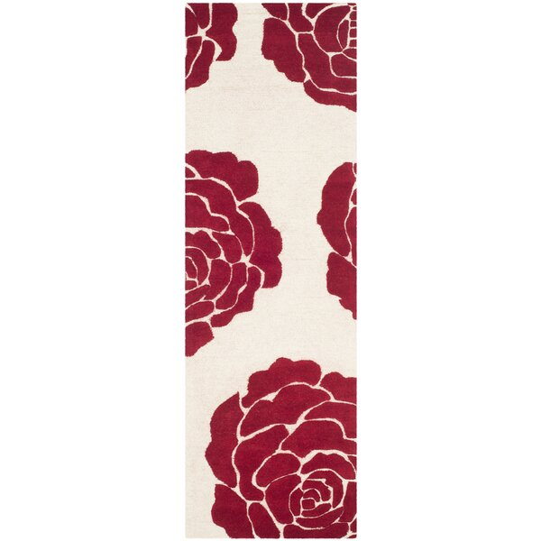 Martins Ivory/Red Area Rug by Wrought Studio