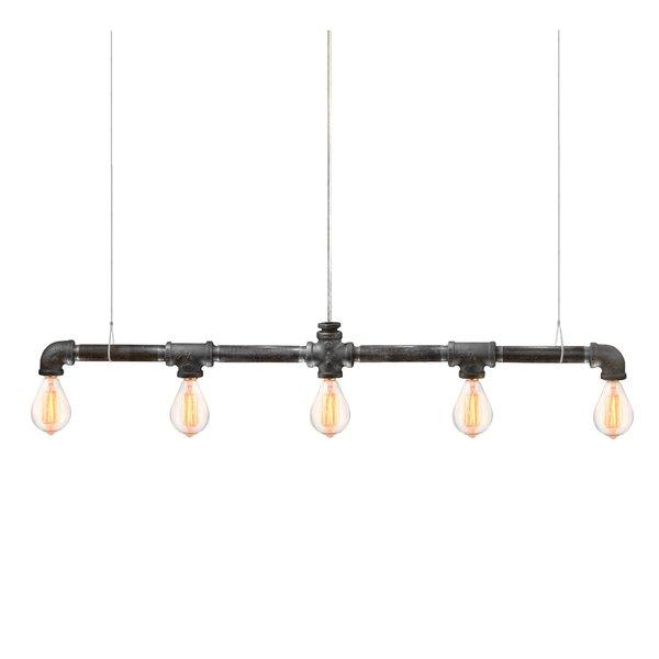 Kennesaw Bar Linear Suspension 5-Light Kitchen Island Pendant by Trent Austin Design
