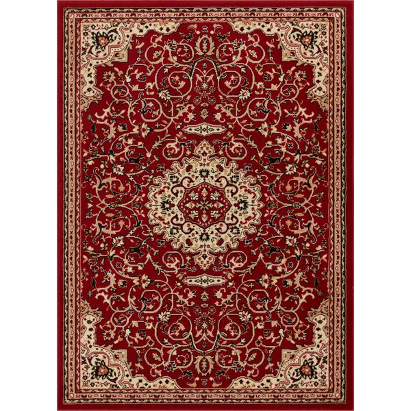 Persa Isfahan Medallion Red Area Rug by Well Woven