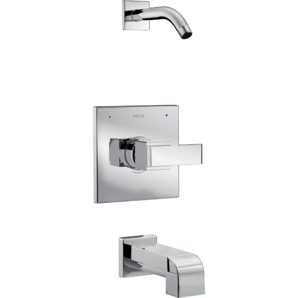 Ara Tub and Shower Trim with Lever Handle and Monitor by Delta