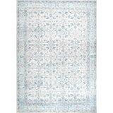 Teppich Pittwater aus Wolle in Aquamarin/Weiß/Grau