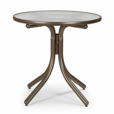 Glass Top Round Dining Table by Telescope Casual