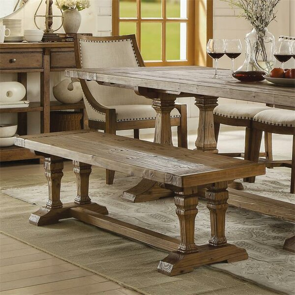 Woosley Wood Dining Bench by Gracie Oaks