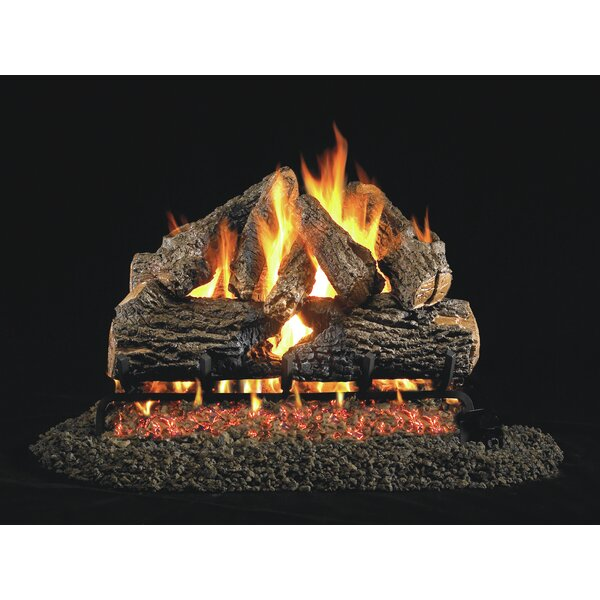Charred Series Natural Vent Natural Gas/Propane Logs By Real Fyre