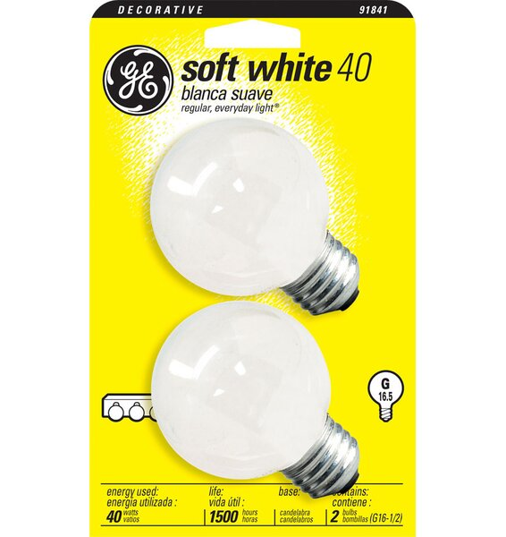 120-Volt (2500K) Incandescent Light Bulb by GE