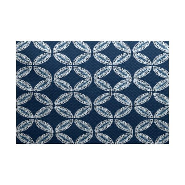 Viet Blue Geometric Indoor/Outdoor Area Rug by Bloomsbury Market