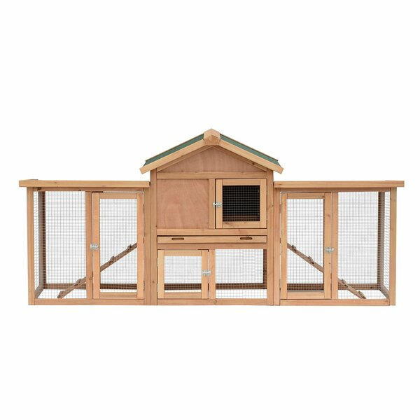 Genoa Wooden Backyard Chicken Coop with Nesting Box and Double Outdoor Runs by Tucker Murphy Pet