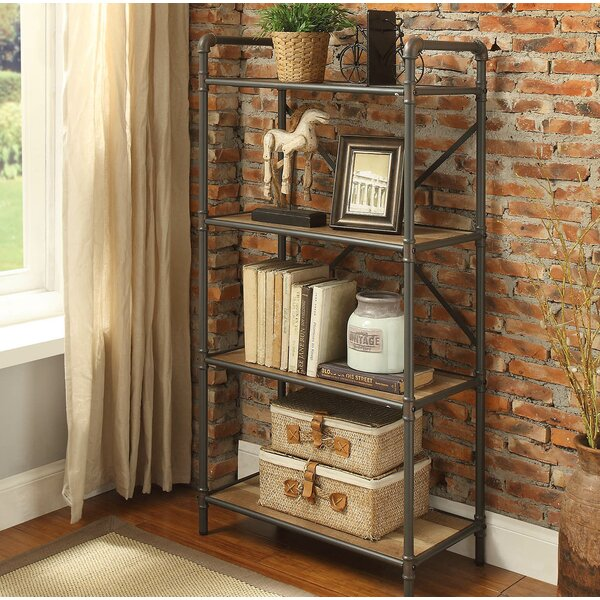 Christofor Industrial Metal Frame Standard Bookcase by 17 Stories