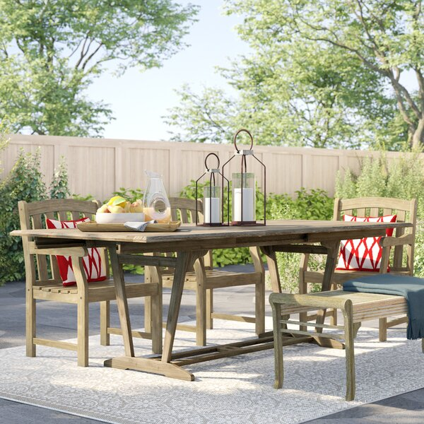 Monterry Extendable Solid Wood Dining Table by Beachcrest Home