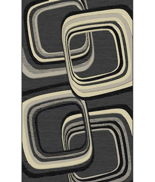 Snaresbrook Contemporary Gray Area Rug by Orren Ellis