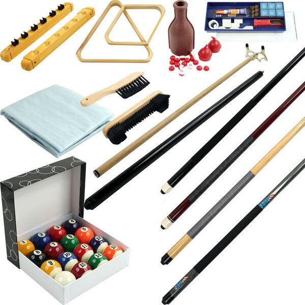 Billiards 32 Piece Accessory Kit For Pool Table by Trademark GamesBilliards 32 Piece Accessory Kit For Pool Table by Trademark Games